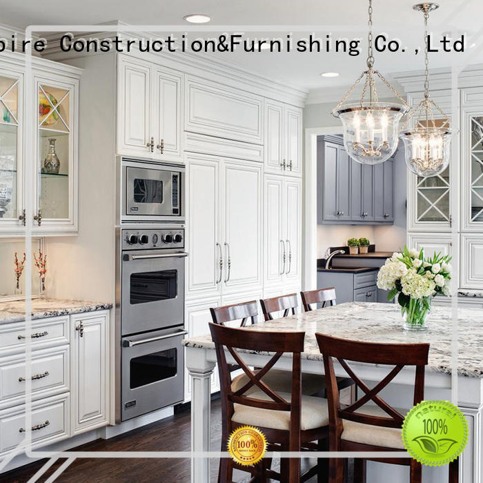 Luxury Cuisine Cabinets Design Solid Wood Kitchen Cabinets