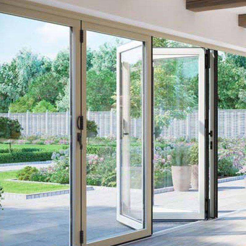 Customized Aluminium Frame Sliding Folding Patio Doors