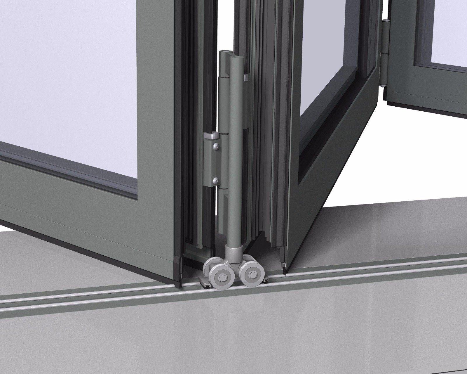 Digah -Custom Colorful Aluminium Frame Folding Patio Doors | Aluminium Door