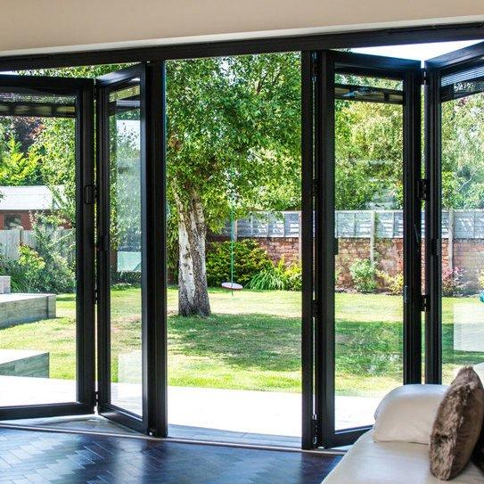 Latest Design Aluminium Frame Sliding Folding Patio Doors