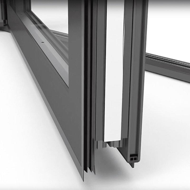 Latest Design Aluminium Frame Sliding Folding Patio Doors