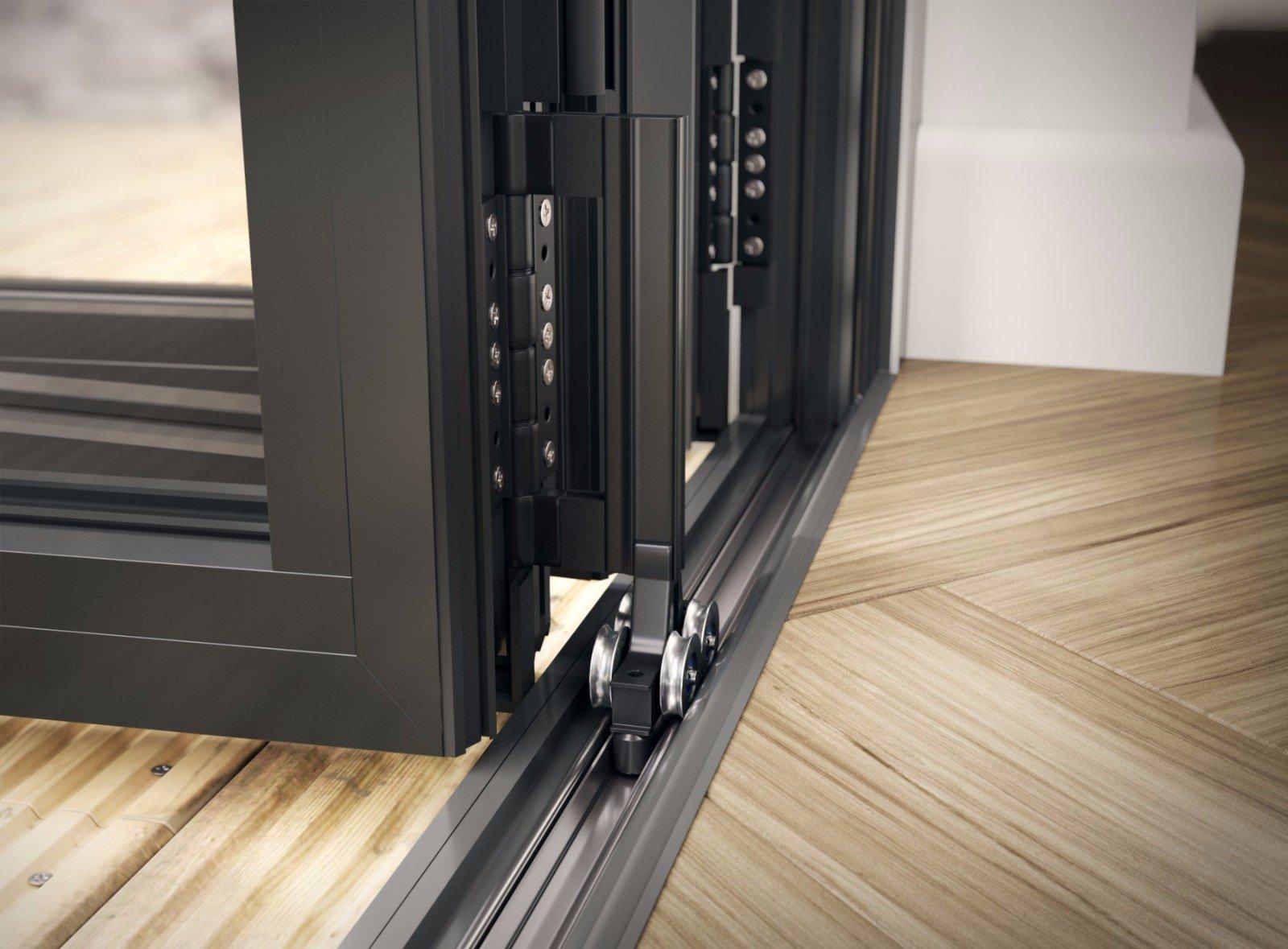 Digah -Latest Design Aluminium Frame Sliding Folding Patio Doors