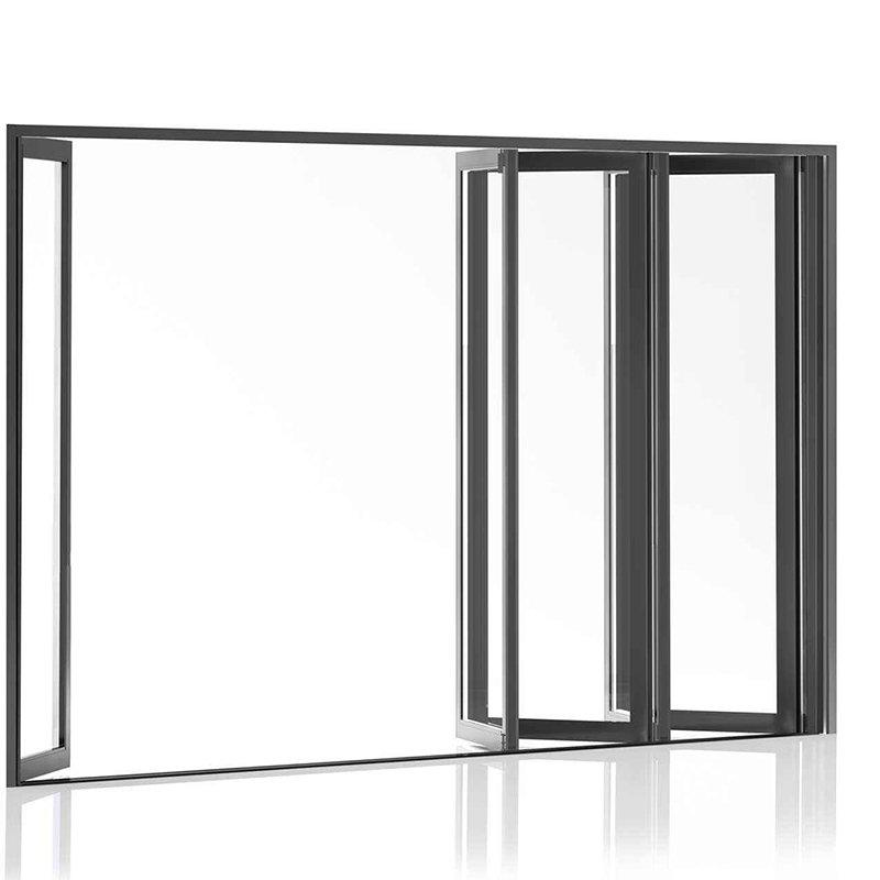 Aluminium Frame Tempered Glass Sliding Folding Patio Doors