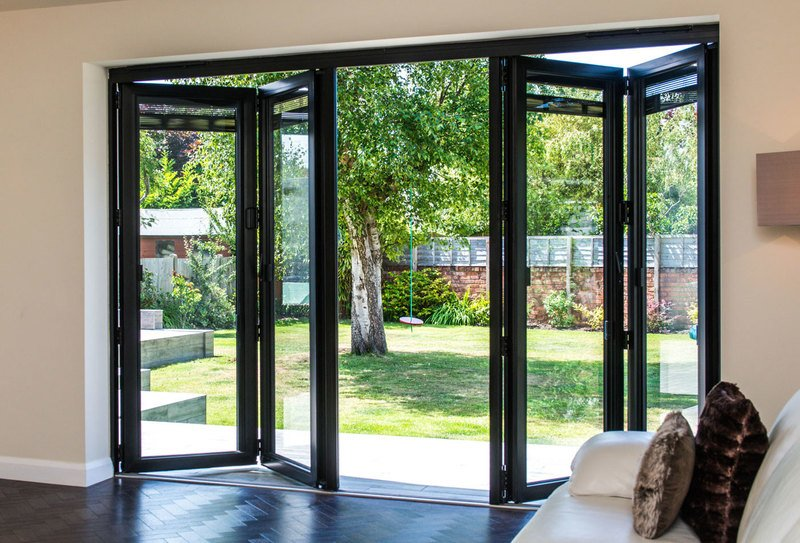 Digah -Latest Design Aluminium Frame Sliding Folding Patio Doors-1