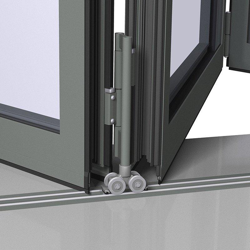 Digah -Custom Colorful Aluminium Frame Folding Patio Doors | Aluminium Door-1