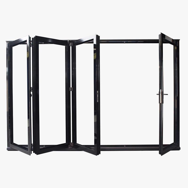 Custom Colorful Aluminium Frame Folding Patio Doors