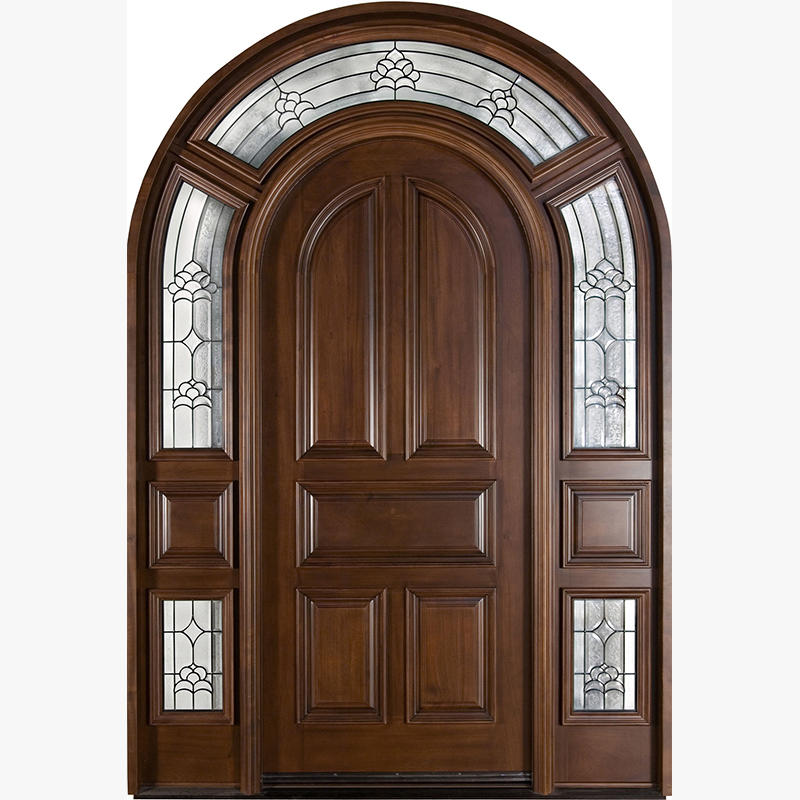 Hand carved exterior solid wood front doors