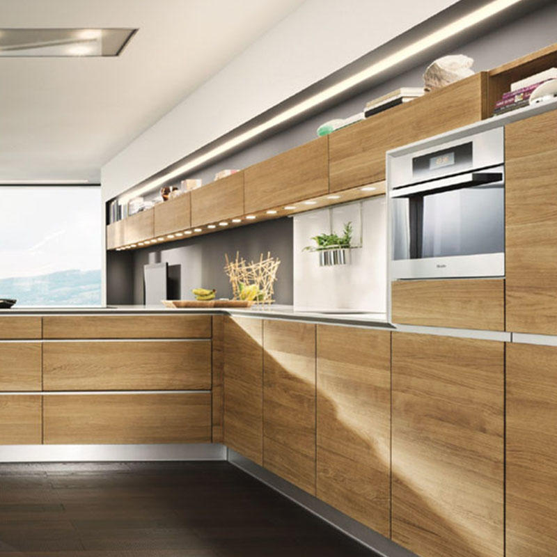 Customized Different Designs of Melamine Kitchen Cabinets