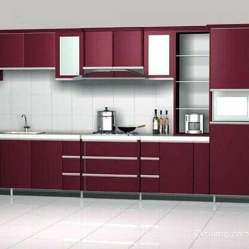 Customized Colorful Aluminium Kitchen Cabinets