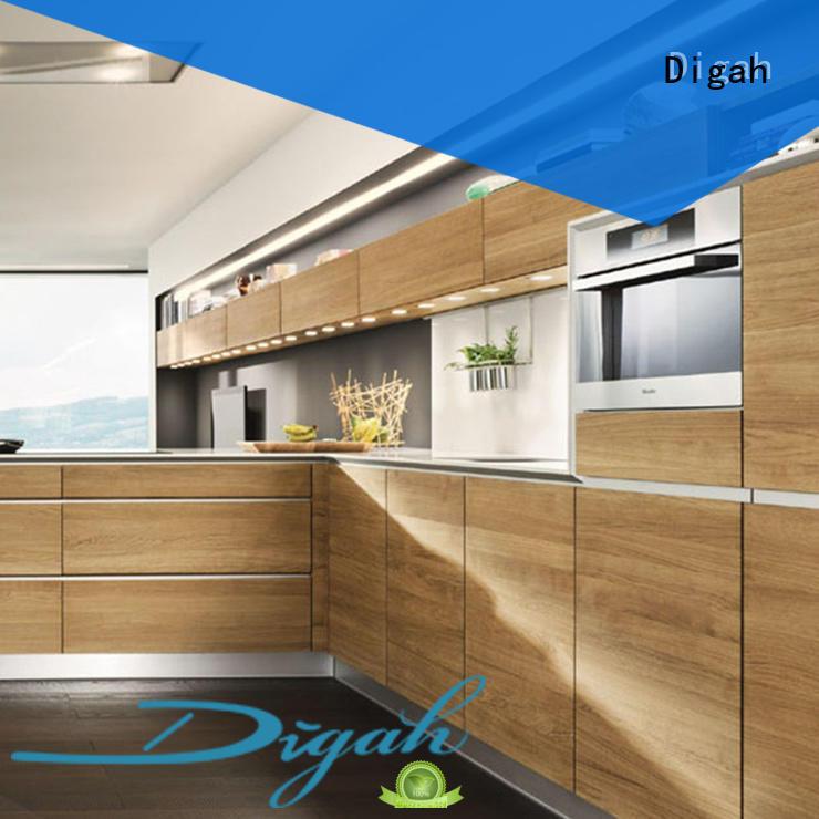Digah Brand melamine pvc custom built kitchen cabinets luxury supplier