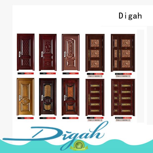Digah armored steel door certification for bathroom
