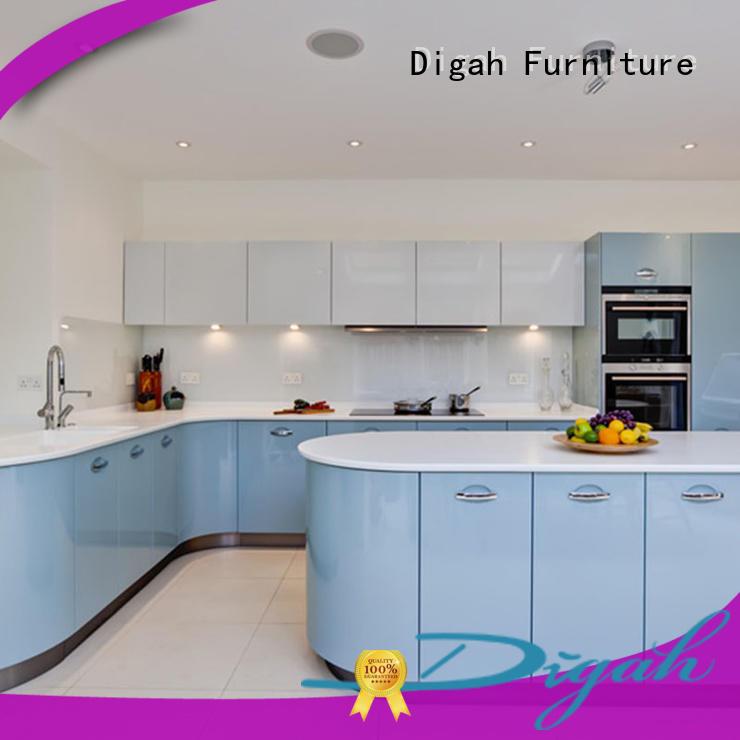 Digah Brand sale steel melamine black kitchen cabinets manufacture