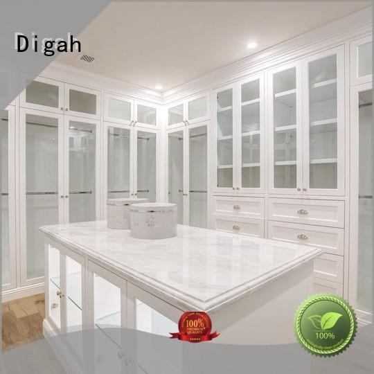 Digah customized large wooden wardrobe top brand for kitchen