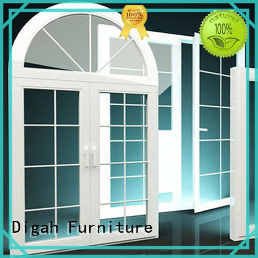 Germany Hardware Sliding energy saving Tempered aluminium sash windows Digah Brand