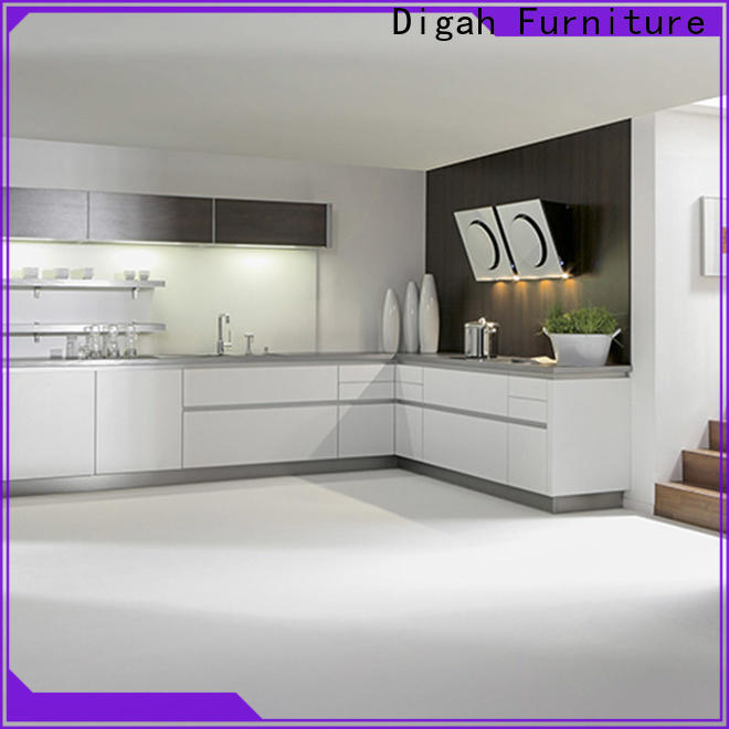 Digah fashion design wood kitchen cabinets prices for decorating