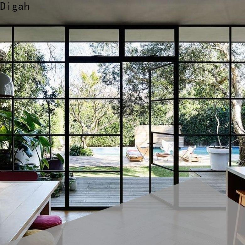 Digah thermal Insulation aluminium french doors in different color for bathroom