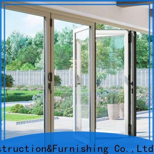 anti-burglar aluminium door folding factory price for dining room
